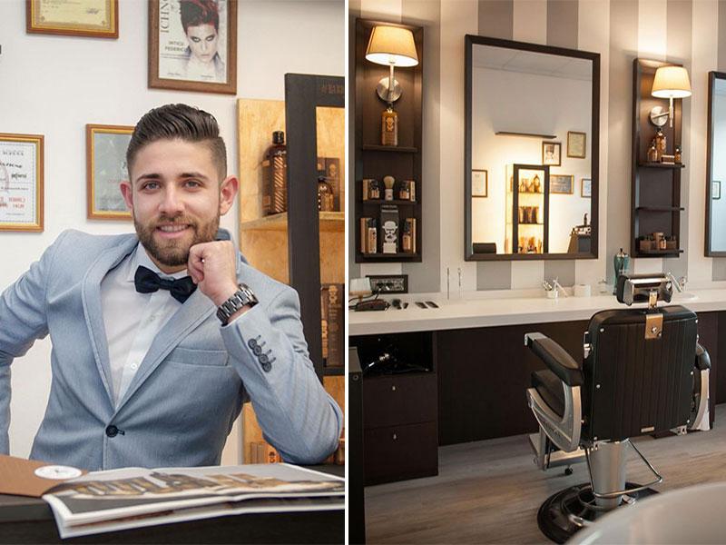 Federico Inticu e il suo Barber Shop